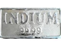 Ko Indium Ingot | te waitohu indium whakarewa InOO GOST 1029